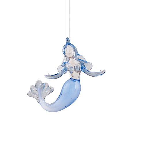 Art Glass Mermaid Christmas Ornament