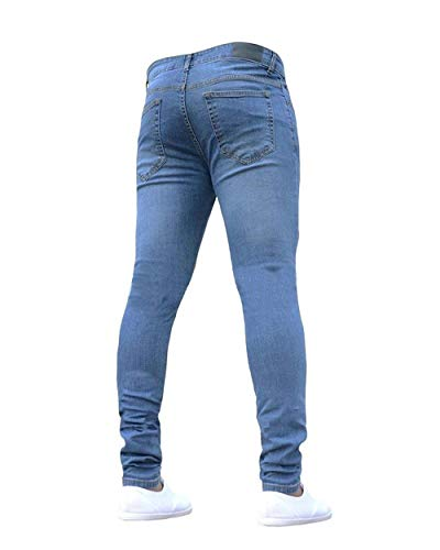 Jeans Ssiger Ragazzo Fit Casual Pantaloni Di Qk Stile lannister Regular Da Hellblau Base Uomo Elasticizzati qEZ7Zv0w