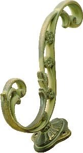 Hickory Hardware P2133-BOA 5-3/4-Inch Art Nouveau Hook, Blonde Antique Blonde Antique Cabinet