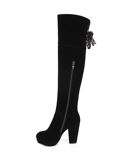 5 De Eu39 Black Botas Xzz Uk5 Redonda Vestido Mujer Zapatos us7 Tacón us8 Plataforma Vellón Punta Uk6 Negro Moda A Cn39 5 La Black Robusto Eu38 Cn38 Casual 5wFw8x