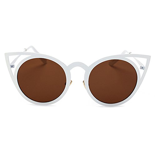 Frames Shades Mirror Femme Metal Sunglasses Vintage Cat 5 Color Eye MEIHAOWEI Fwq8Hxx