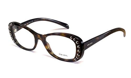 Prada Designer Reading Glass Collection VPR21R in Tortoise 53mm ; DEMO LENS -