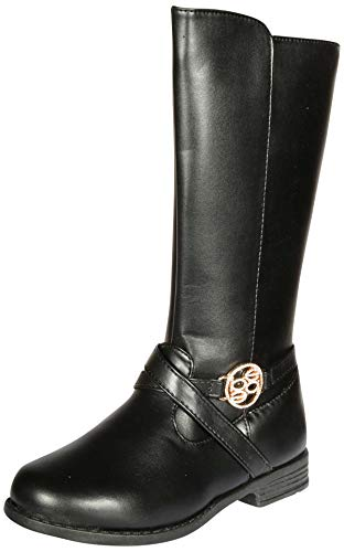 bebe Girls Riding Boots Medallion (4 M US Big Kid, Black Medallion)' ()