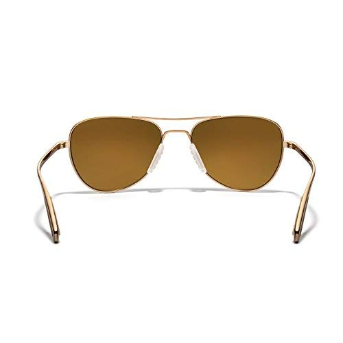 Bronze ROKA Rio Ti Performance Polarized Aviator Sunglasses for Men and Women Polarized Gold Frame Lens