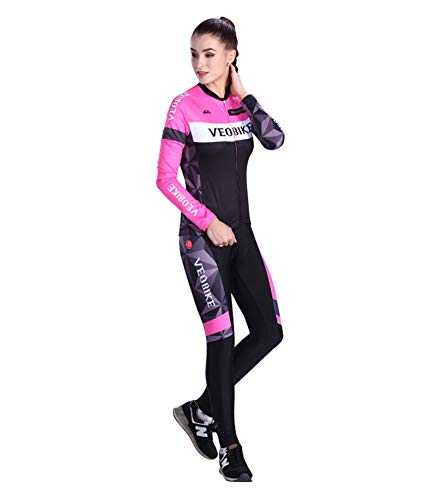 Adisaer Outdoor Riding Suit Set Summer Bike Riding Suit Female White&Pink S Outdoor Sport Bike Suit Jerseys Shirt Pants Shirt