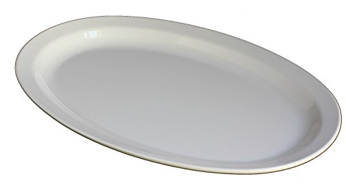 Z-Moments Western Melamine Oval Plates Narrow Rim Platter, 9-1/2