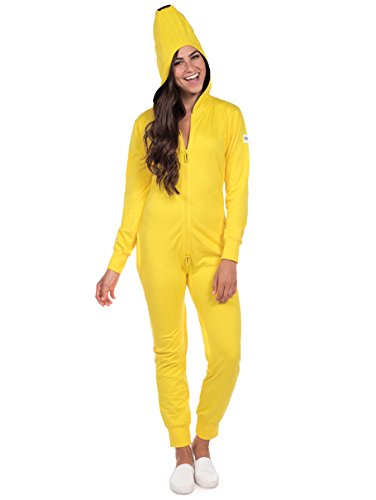 Tipsy Elves Women's Banana Halloween Costume - Banana Jumpsuit: Large -