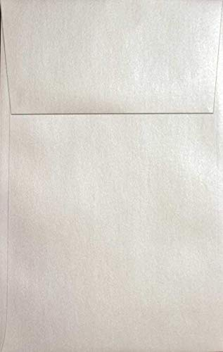 (Metallic Off-White Quartz A10 (6-x-9-1/2) Envelopes 250-pk - 120 GSM (81lb Text) PaperPapers Large Invitation, Social and DIY Mailable Envelopes)