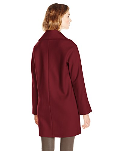 Vince Camuto Women's Double Breasted Wool Coat, Oxblood, X-Large