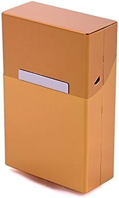 Caja de Cigarrillos Metal Aluminio Zigarettentui Caja del cigarrillo Caja para cigarrillos - Más Colores a elegir - oro: Amazon.es: Hogar