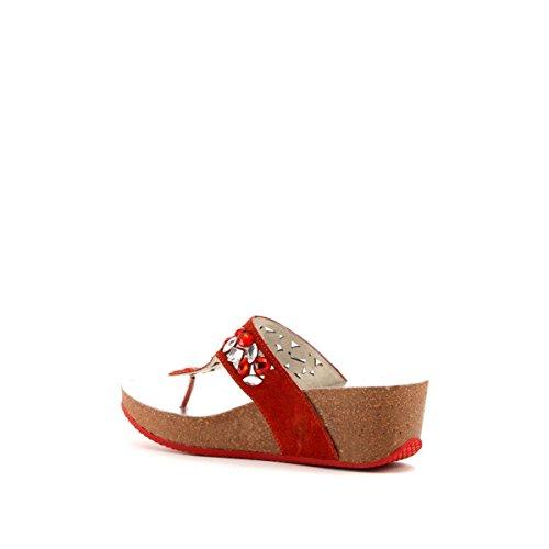 CAFèNOIR Flip-flops - Sandalias de piel para mujer E15.1742 CORALLO