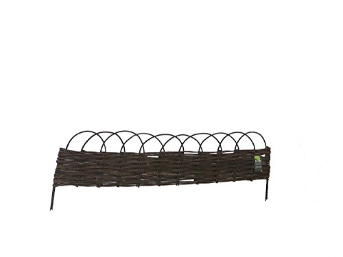 Willow Garden Fencing - MGP Extra Long 6' Flexible Woven Willow Edging with Loops 72