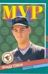 Amazon Com 1991 Donruss Baseball Card 393 Gregg Olson Collectibles Fine Art
