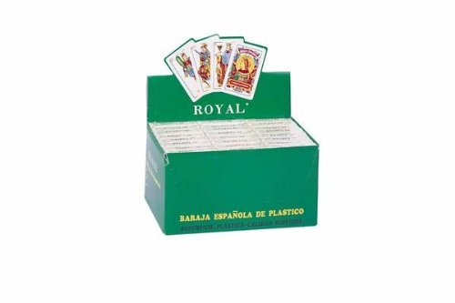 Royal Plastic Spanish Playing Cards Display, Pack of 24 Decks