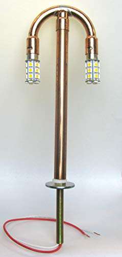 Post Lantern Gas Lamp Conversion Kit | Convert A Gas Light to Dusk-to-Dawn LED Bulbs ()