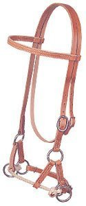 Weaver Horse Leather Side Pull Bridle Western Tack