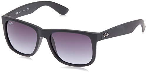 Ray Ban Unisex Sonnenbrille RB4165 Schwarz (Gestell: Schwarz, Gläser: Grau Gradient 601/8G), Large (Herstellergröße: 55)