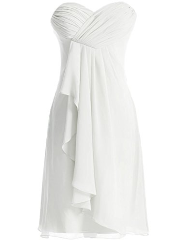 Robes sans de soire Robe Ivoire Robe Court de Demoiselle d'honneur Bretelles Robe Cocktail Bal de rqvfn7r1w