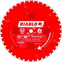 - Freud D1040W Diablo 10-1/4-Inch 40 Tooth ATB General Purpose Saw Blade with 5/8-Inch and Diamond Knockout Arbor