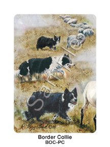 Border Collies Dog Playing Cards - Artwork by Ruth Maystead