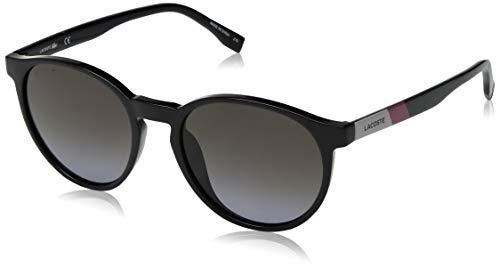 Lacoste Unisex L874s Round Color Block Sunglasses, Black, 52 ()