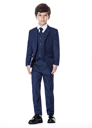 Boys Classic Formal Dress Suits Set 5 Piece Slim Fit Dresswear Suit