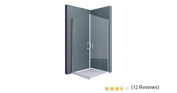 Sogood Cabina de duchas esquinera Rav24K 90x80x195cm vidrio transparente con mecanismo de elevación y descenso: Amazon.es: Bricolaje y herramientas