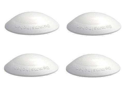 4 Türpuffer Anschlagdämpfer Wandpuffer Bummsinchen 40 mm weiß
