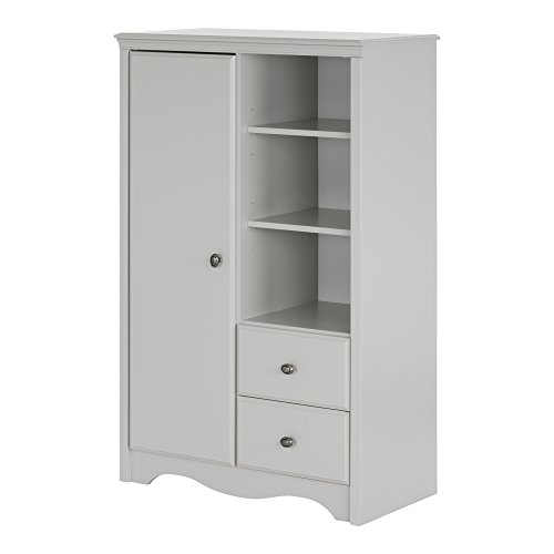 South Shore Angel Armoire with Drawers, Soft Gray for sale  Delivered anywhere in USA