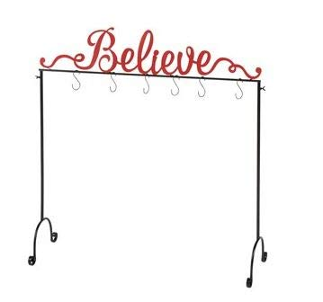 NTD Believe Christmas Stocking Holder Stand