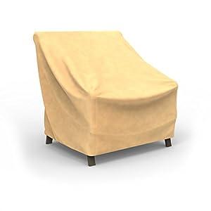 Budge P1W01SF1 All-Seasons Patio Chair Cover, Medium, Tan