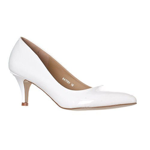 Pointed Toe High Heels Shoes (White) - 3