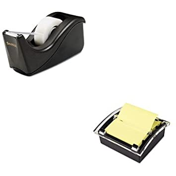 KITMMMC60BKMMMDS330BK - Kit de valor - Post-it dispensador de notas desplegable transparente para 3