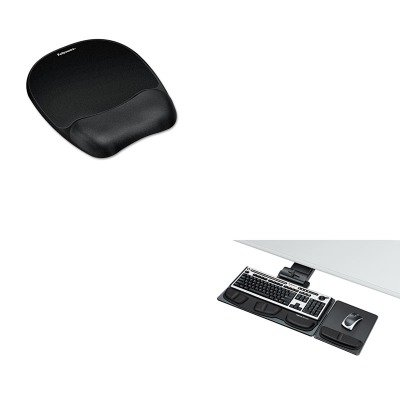 KITFEL8036101FEL9176501 - Value Kit - Fellowes Professional Executive Adjustable Keyboard Tray (FEL8036101) and Fellowes Mouse Pad w/Wrist Rest (FEL9176501) by Fellowes