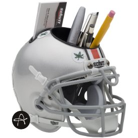 Ohio State Buckeyes Miniature Football Helmet Desk - Ohio Office Supplies State