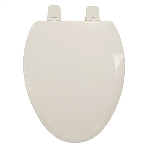 Jones Stephens Premium Molded Wood Seat for Vortens<sup></sup> Toilets, Biscuit, Elongated, Closed Front with Cover