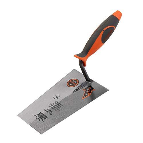 KSEIBI 281440 Narrow Bucket Brick Trowel Rubber Handle Square Tip Bricklaying Trowel (7Inch)