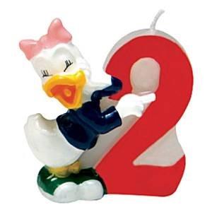 Mickey Mouse vela vela de cumpleaños - 2: Amazon.es ...