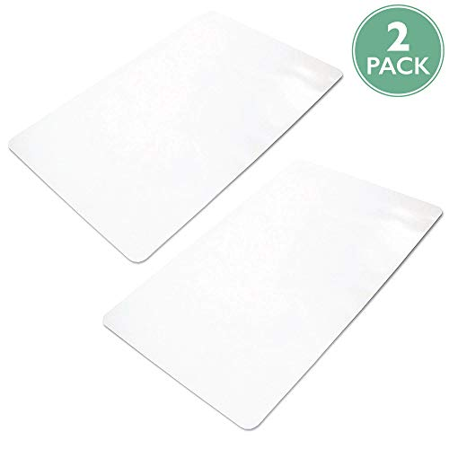2 Pack of Office Chair Mats for Hardwood Floors 36 x 48 - Floor Mat for Desk Chairs