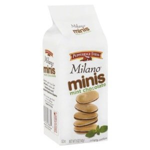 Pepperidge Farm Milano Minis Mint Chocolate Cookies 1 package (Pepperidge Farm Mint Cookies)