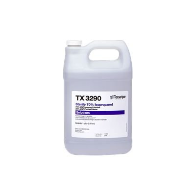 Texwipe TX3290 Sterile 70% Isopropanol Alcohol IPA (1 Gallon Bottle) (4 Pack)