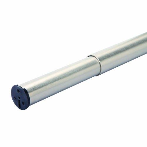 Knape & Vogt John Sterling RP0020-48/72BN Adjustable Closet Rod, 48-Inch to 72-Inch, Plated Brushed Nickel