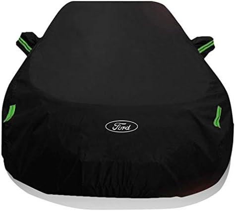 フォードエッジ/エッジST、フルカバレッジキープウォームカーカバー雪の保護通気性防水アンチUV耐凍害性断熱防風モバイルガレージと互換性 (Color : Black, Model : Ford Edge)