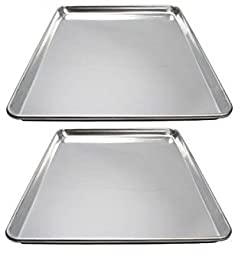 Winware ALXP-1622 16-Inch by 22-Inch Aluminum Sheet Pan, Pack of  2