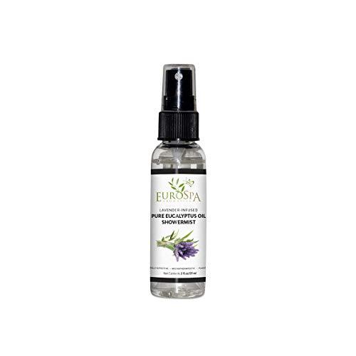 - EuroSpa Aromatics Pure Eucalyptus Oil ShowerMist and Steam Room Spray, All-Natural Premium Aromatherapy Essential Oils - Lavender Infused, 2oz