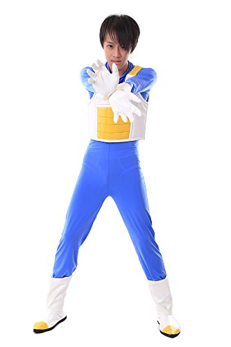 [SDWKIT Dragon Ball Z Prince of All Saiyans Vegeta Fighting Uniform V3 Set] (Dbz Saiyan Armor Costume)