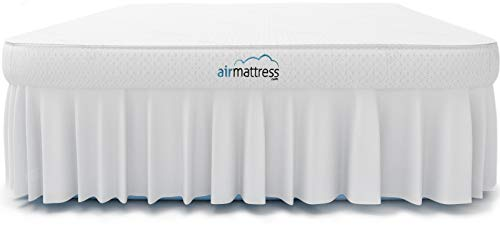 Air Mattress King Size - Best Choice Raised Inflatable Bed with Fitted Sheet and Bed Skirt - Built-in High Capacity Airbed Pump (King)