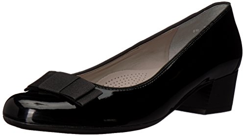 ARA Women's Nisha Ballet Flat, Black Patent, 6 Wide UK (8.5 US)