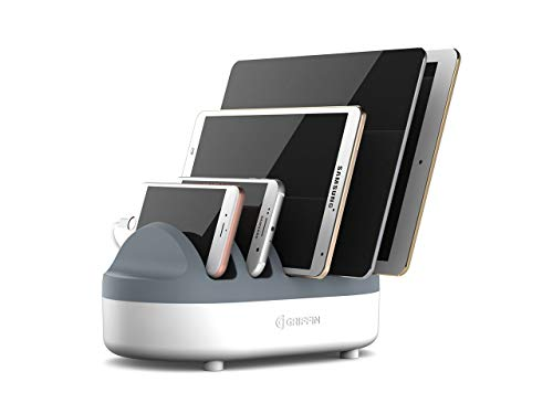 Griffin PowerDock Pro - Multi-Charger Dock Charges 5 USB Devices for iPad, iPhone, iPod - Multi-Device Charger and Cord Management
