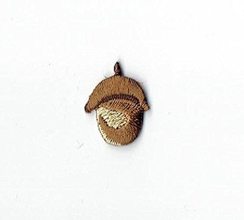 Small Single Oak Tree Acorn Iron on Embroidered - Applique Acorn